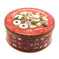 The Empty Cookies Tins With Embossed logo