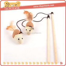 Feather knits cat toy ,CC020 da bird toy for cats , low price cat teaser
