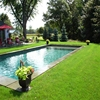 Anti UV Tricolor Synthetic Artificial Lawn