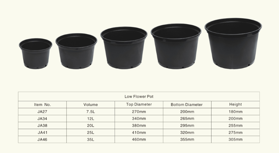 Planter Pot Sizes Far Reaches Farm 10 Gallon Black