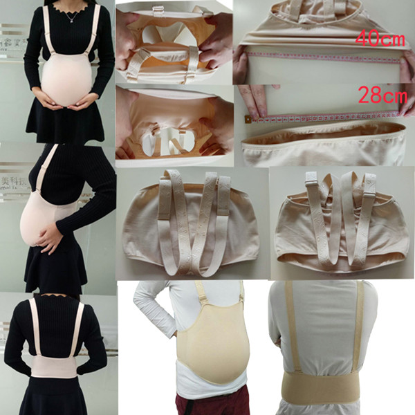 ONEFENG Silicone Artificial Pregnant Belly Fake Belly Cloth Bag Belly for Crossdresser 3000g/pc Wholesale
