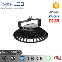 Ul list IP65 high luminous UFO 100W LED High Bay Light with Meanwell driver