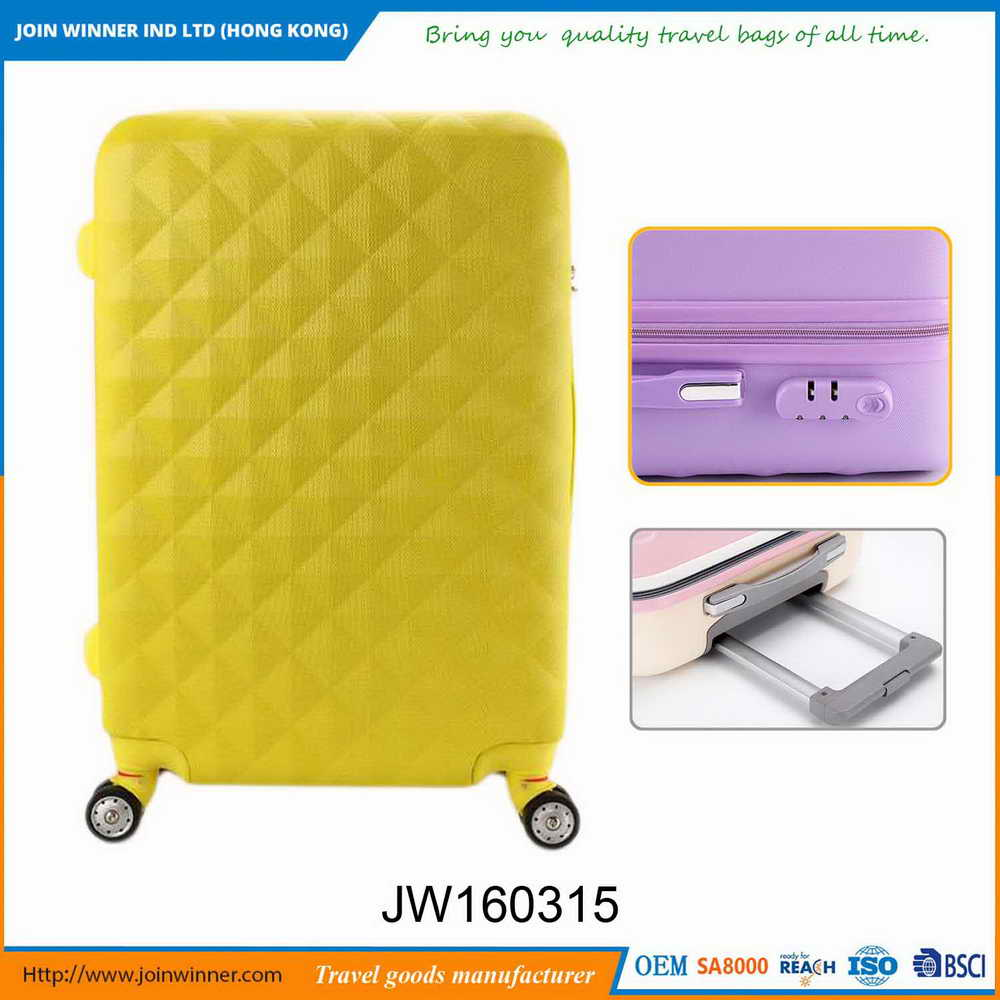 Professional Factory Offer Hard Case 4 Wheel Suitcase Free Sample