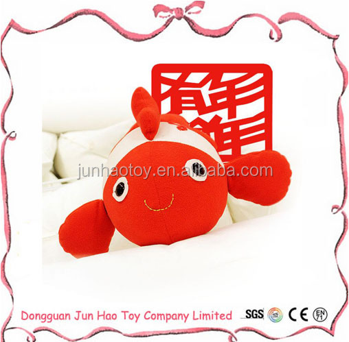 Chinese Traditional Red Crap Plush Goldfish Stuffed Toys for Decoration