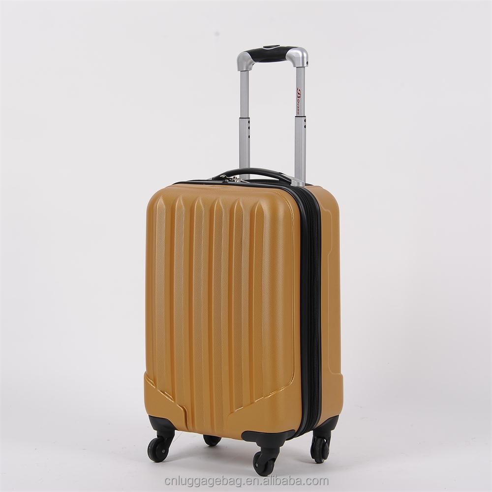 China factory wholesale Cabin luggage 20 inch plain Spinner Hardshell ugly luggage