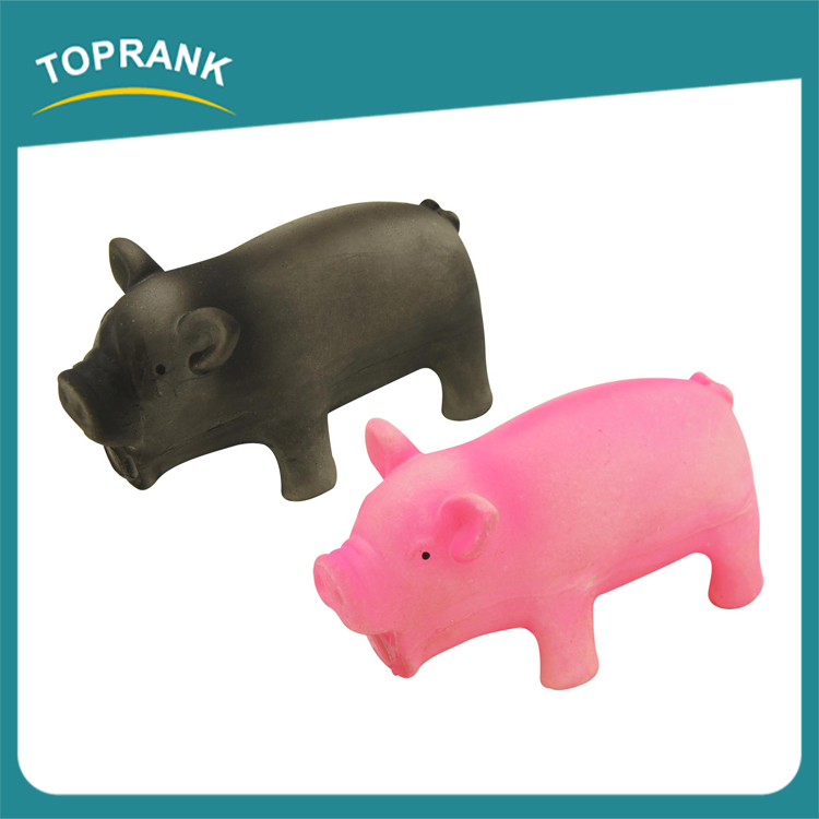 Hot selling pet products animal pink pig shape soft squeaky latex pet toy for dogs