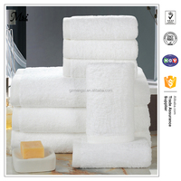 100% cotton hotel bathroom towel sets 3pcs/ high quality, quick-dry eco-friendly white hotel towels