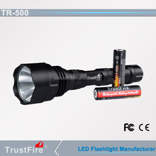 Red,green and blue light,TrustFire TR-500 rechargeable flash light, led hunting flashlight, emergency lamp