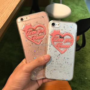Cute Love Pattern 3D phone case For iPhone 7 6 6S Plus Soft TPU Soft Case For Apple Phone Bag Cases Silicone Cover Housing