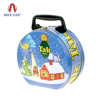 Nice-can Factory direct supply beautiful personalized kids cookie tin metal lunch box for food storage