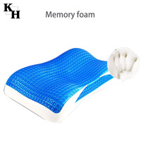 Wholesale ice gel cooling memory foam pillow