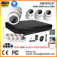 4 Channel H.264 NVR HD 1080P CCTV IP Cameras Kits,4CH Home Video Surveillance Cameras System