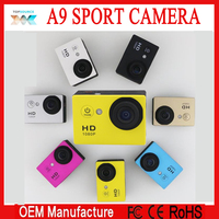 HD1080P helmet A9 sport action camera with 2.0 inch screen