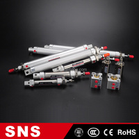 sns air pneumatic stainless steel cylinder compact high pressure double acting mini cylinder, single acting mini cylinder