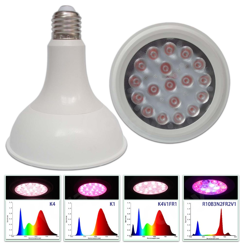 PAR38 15W LED Grow Lights Bulb Full Spectrum Plant Lights