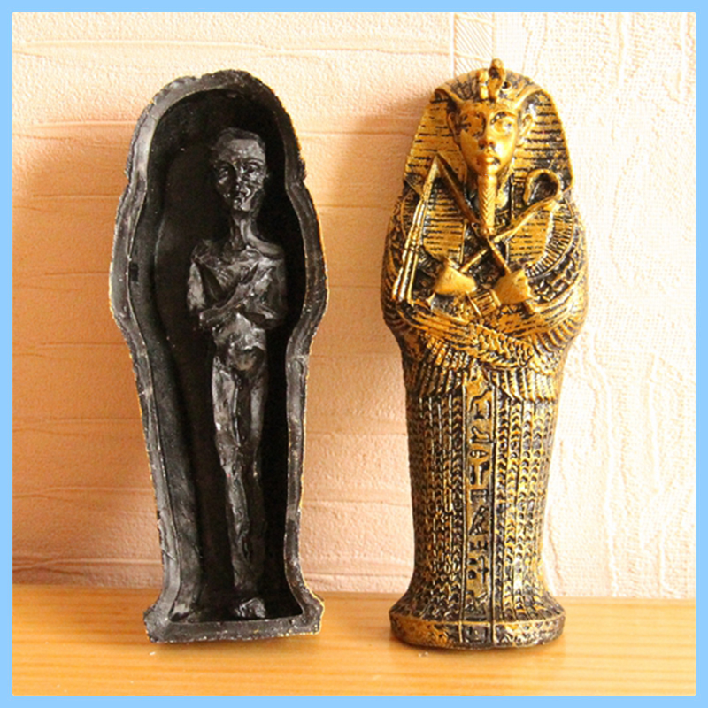 Custom high quality Polyresin king in coffin halloween Egypt mummy statue