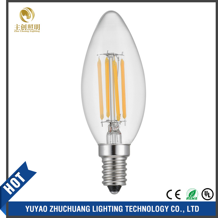 2W 4W 6W led filament lamp, dimmable led filament bulb light AC85-265V Glass shell vintage edison led light