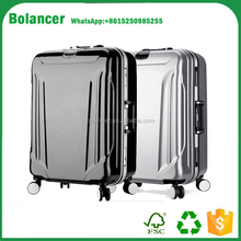 PC luggage case travel aluminum trolley and frame luggage with spinner wheels