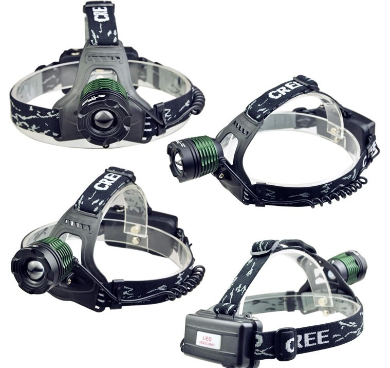 green black 2500lm zoomable rechargeable xm l t6 led headlight head lamp 3 mode lampe frontale. Black Bedroom Furniture Sets. Home Design Ideas