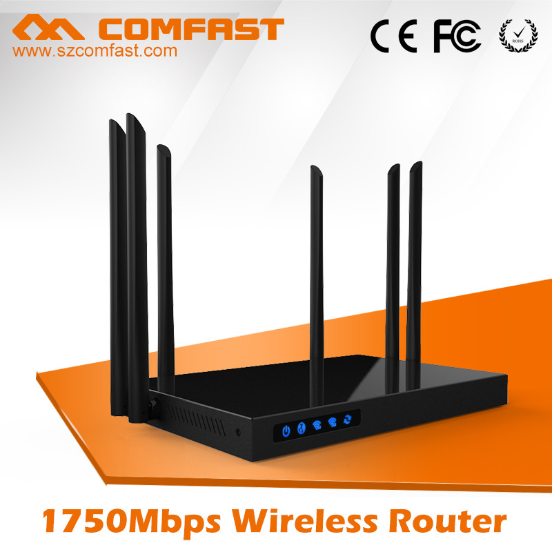 New Arrival COMFAST CF-WR650AC 1750Mbps 192.168.1.1 RJ45 802.11ac Wireless Wifi Internet AC Router with Open WRT DD WRT