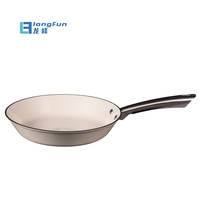 Factory Supply White Color Cast Iron Electric Fry Pan Skillet With S/S Handle
