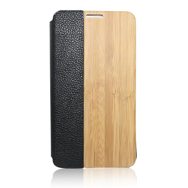 Wood bottom smart phone case leather sticker phone shell original wood case for Samsung S5