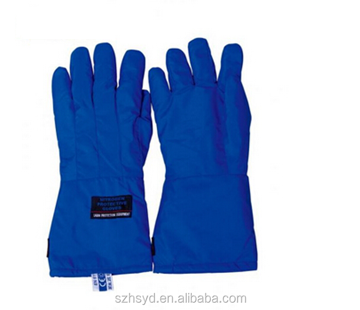 Ultra-low temperature of liquid nitrogen protective gloves