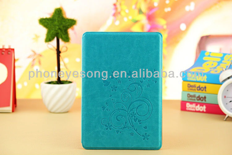 For iPad mini Flower Embossed Leather Stand Case