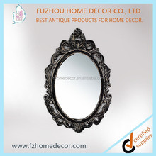 Antique look mirrors decor wooden wall decor with resin material