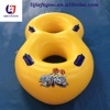 high quality PVC water slide inflatable water ski tube double persons raft