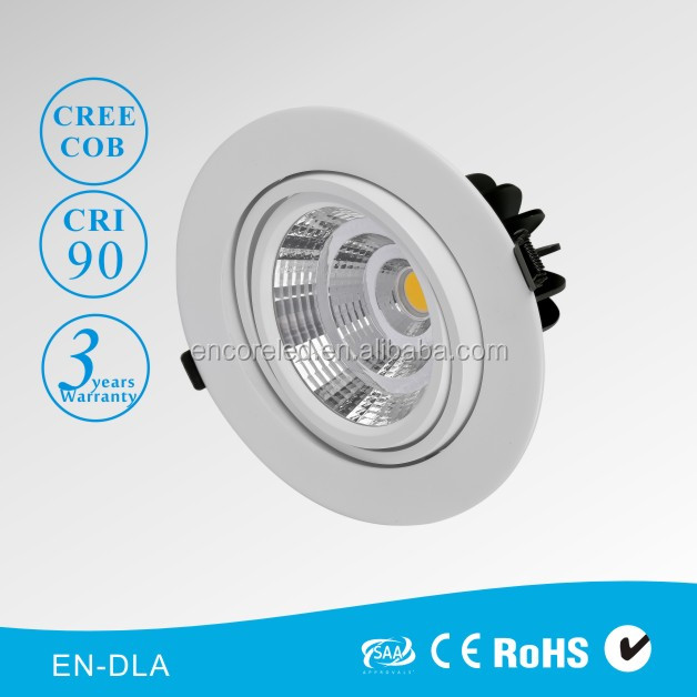 LED Downlight Design Award Single Double Triple Heads Dimmable Cob LED Down Light