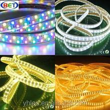 120leds/m double line SMD5050 RGB 5050 strip 220v led flashlight water proof box rechargeble