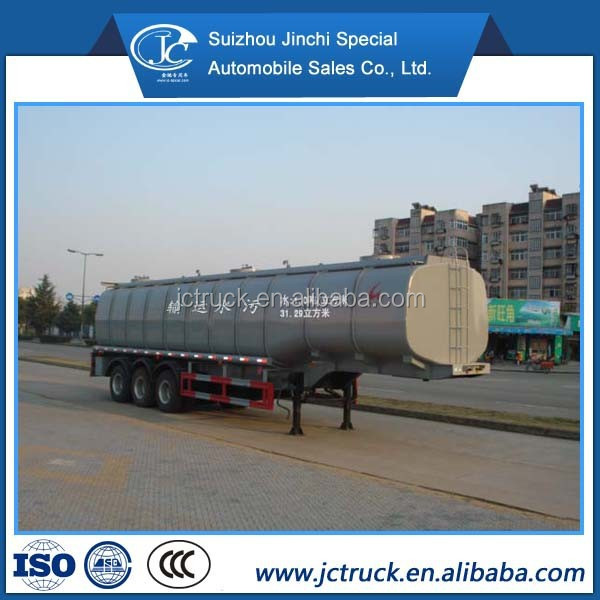 Competitive price 3 axis sewage container transport semi trailer 32000L