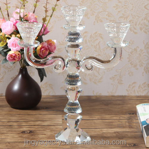 6 years Professional China Factory Manufacture Clear Glass Candle holder For Wedding