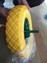 4.00-8 pu foam wheel with spoke rim