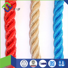 Twisted polypropylene polyester mixed colored rope