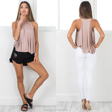 Wholesale latest women tops 100% cotton tank top in bulk