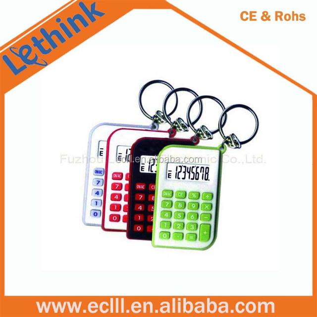 8 digit mini keychain calculator for promotion