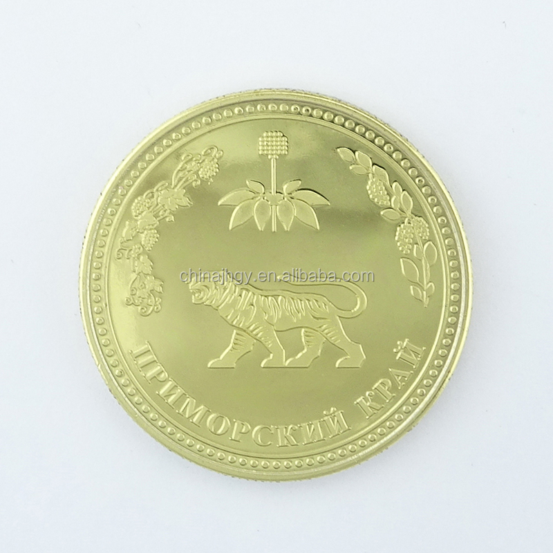 Europe Regional souvenir gold plated custom coin