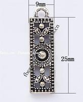 Zinc Alloy Rectangle Necklaces For Jewelry 221442