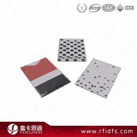 Printable blocking plastic card protector rfid