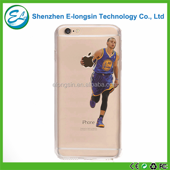 Elongsin Basketball Pattern Embossed Colorful Printing Cell Phone Case For iPhone 6s