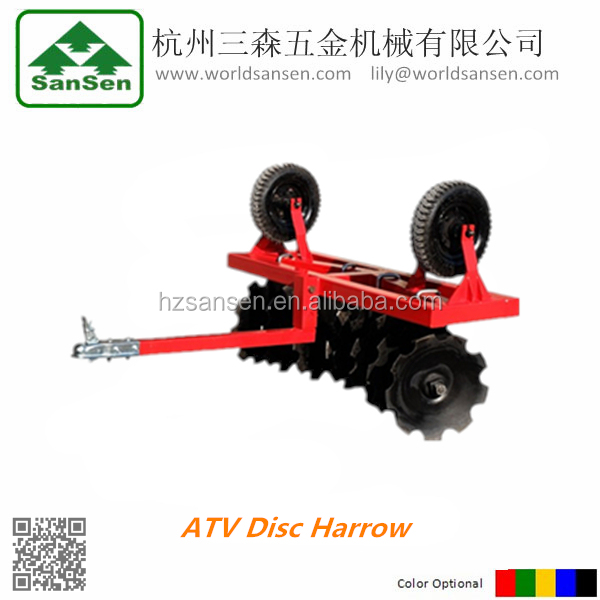 ATV Tow-behind Disk Harrow;pull behind disc cultivator
