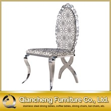 Most popular modern handle back dining chair with stainless steel legs