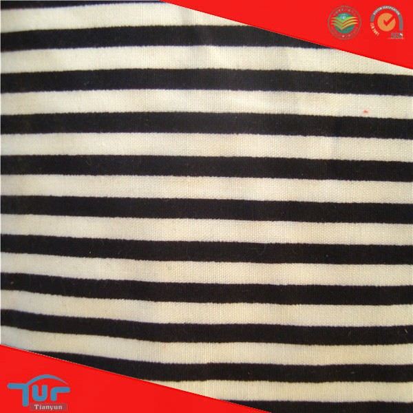 2014 Alibaba China High Quality Printing Fashion Black White Stripe Fabric For Pants