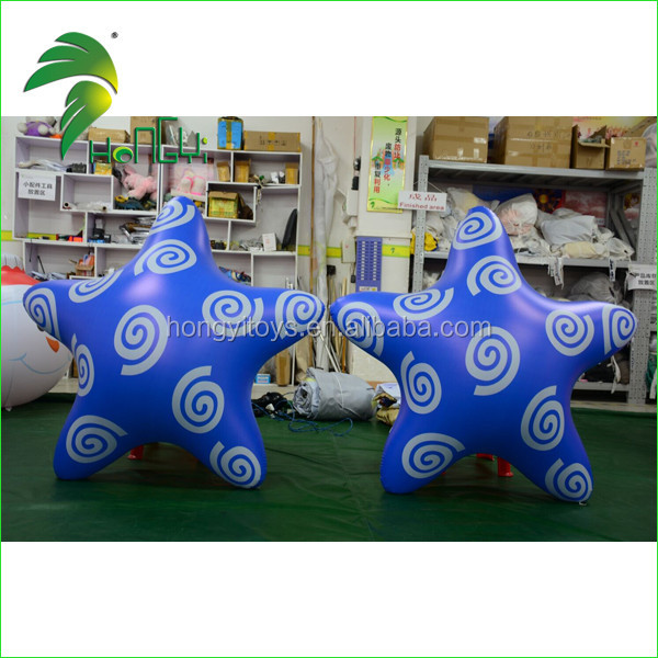 High Quality Inflatable Decorative Bule Star , Inflatable Christmas Lighted Star Shape Model For Sale