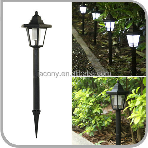 Plastic Hexagonal Wireless Decorations Solar Powered 1 LED pathway Lamp light Outdoor Garden accent yard cheap price (JL-8532)