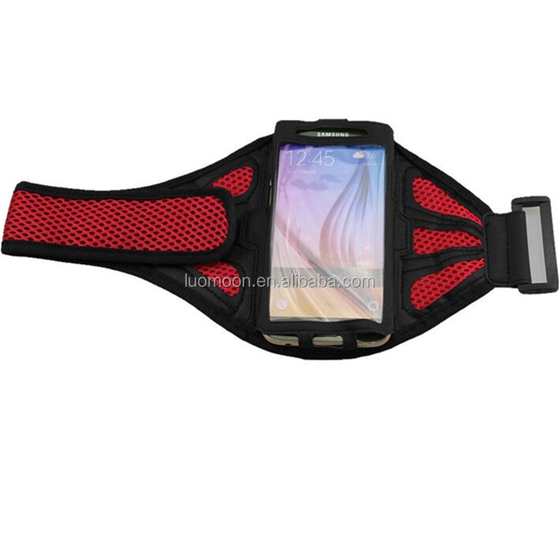 Mesh reticular arm mobile phone holder bag case armband for Samsung galaxy s7 s6 edge s5 s4 s3 mini note 5 4 3 2 1
