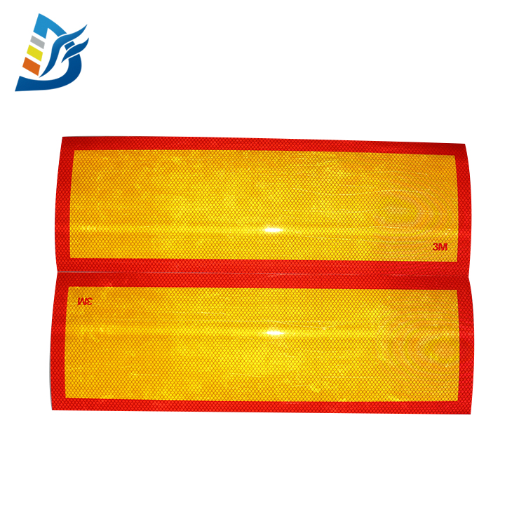 130&190*565MM Red Yellow 983D 3M Diamond Grade Reflective Tape,3M Fluorescent Black Clear Reflective Tape For Trucks