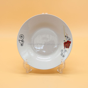 high quality Indonesia white porcelain soup dinner plate